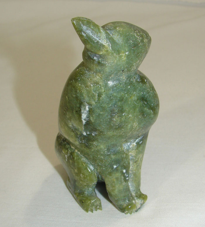 Eskimo inuit hare rabbit stone carving iziasie kopanlie ebay